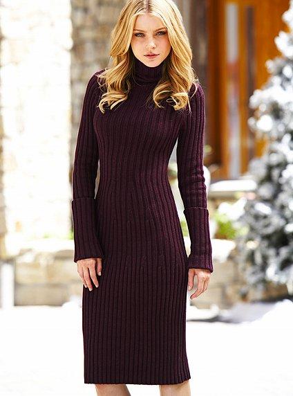 Модные вязаные платья из шерсти и трикотажа.