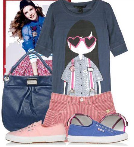 летний спортивный стиль одежды для женщин.