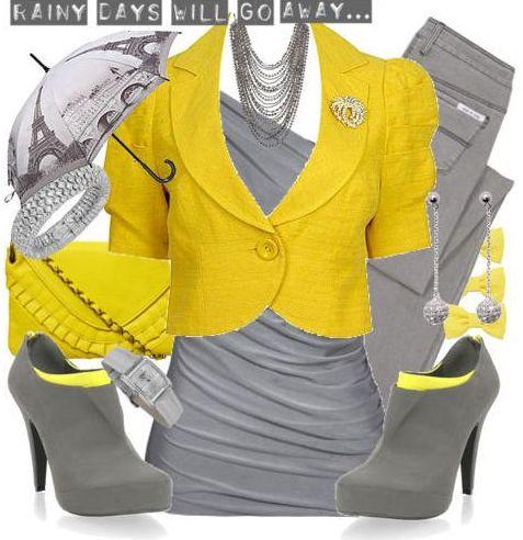 Самое идеальное сочетание серого с желтым цветом!