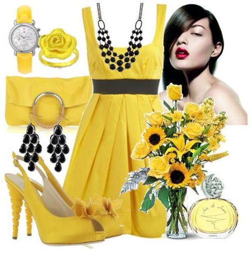 """Вечернее платье желтое (17 фото)  """" Фото."""