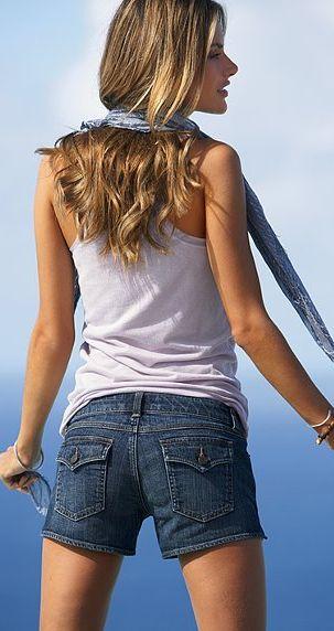 Джинсовые шорты от Blue London Jean.