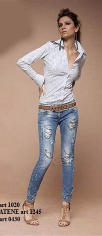 Стильные стретч джинсы - Интернет-магазин брендовой одежды Модно.